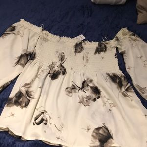 Express Tube Top blouse with attached sleeves